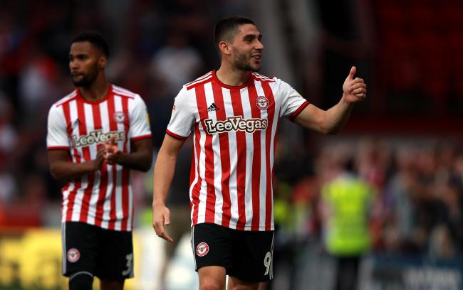 Brentford's Neal Maupay gives a thumbs up after the Sky Bet Championship match at Griffin park, Brentford. PRESS ASSOCIATION Photo. Picture date: Monday April 22, 2019. See PA story SOCCER Brentford. Photo credit should read: Ian Walton/PA Wire. RESTR