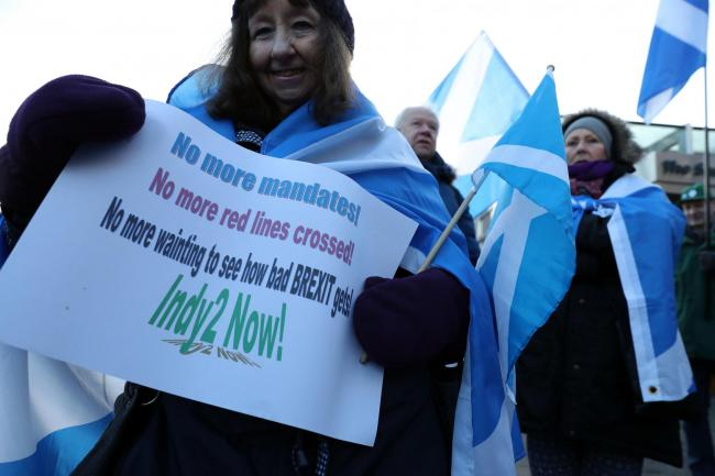 No demand from Scots for re-run of 2014 independence vote, UK Government claims