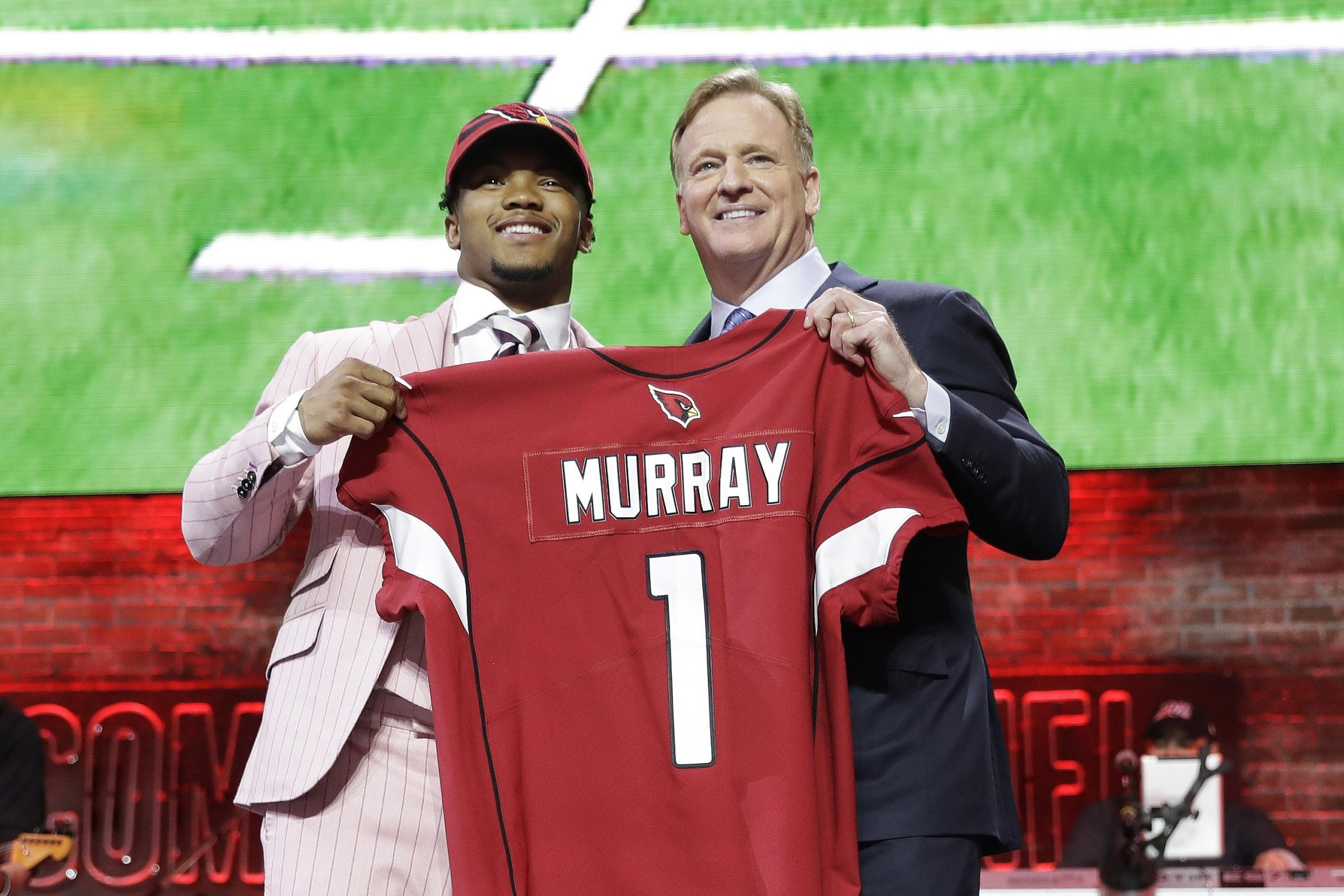 Kyler Murray after the Arizona Cardinals selected him in the first round at the NFL draft