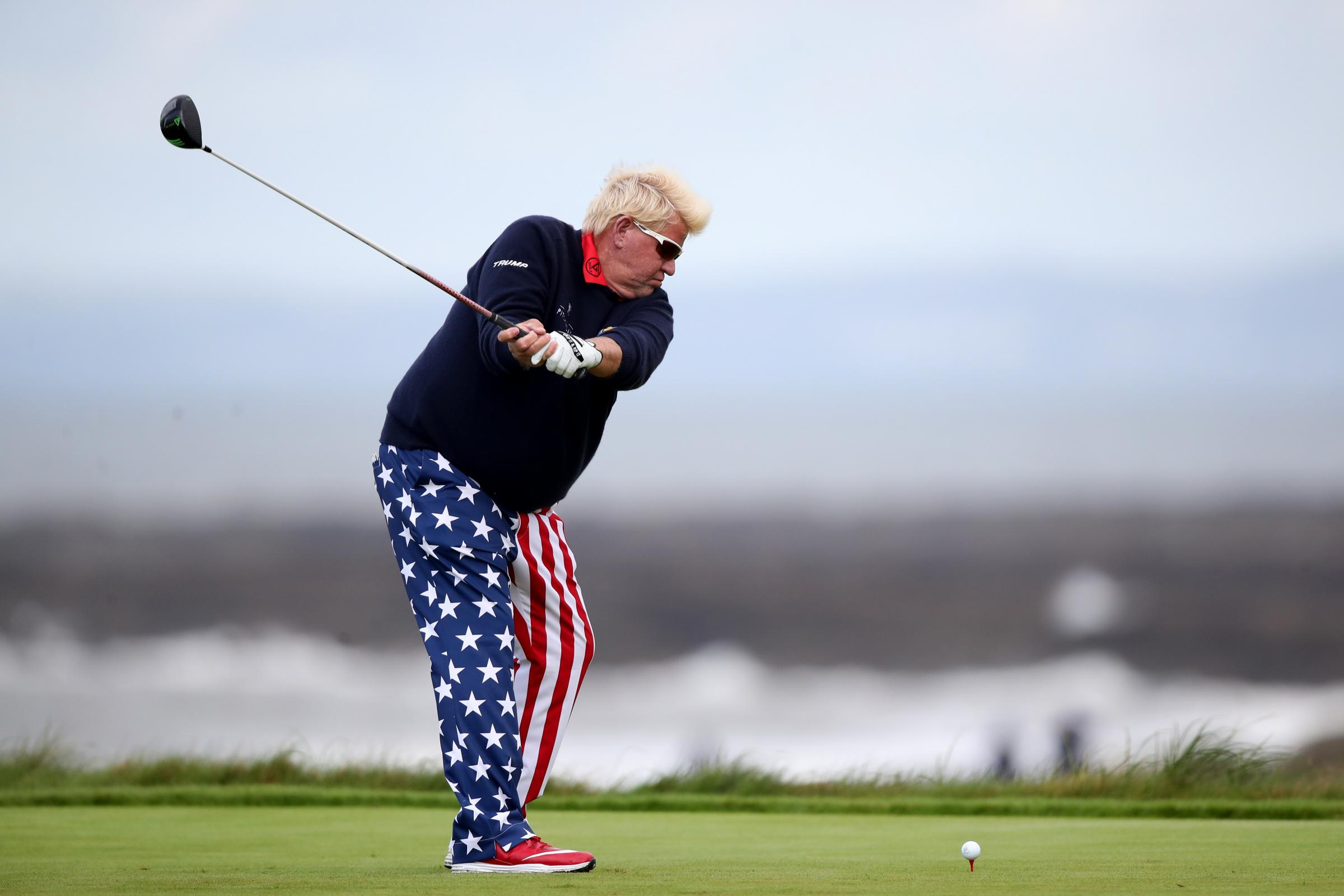 American John Daly has a knee problem (Nick Potts/PA)